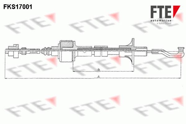 Cable d'embrayage FTE FKS17001 (X1)