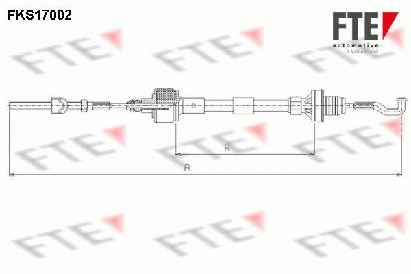 Cable d'embrayage FTE FKS17002 (X1)