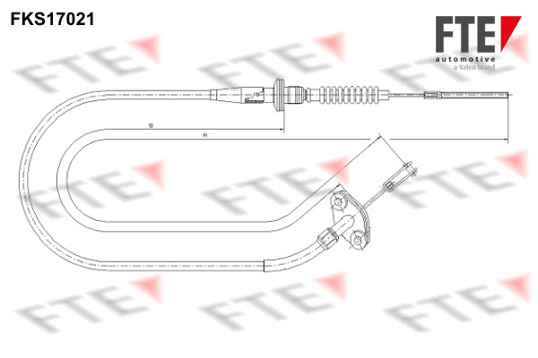Cable d'embrayage FTE FKS17021 (X1)