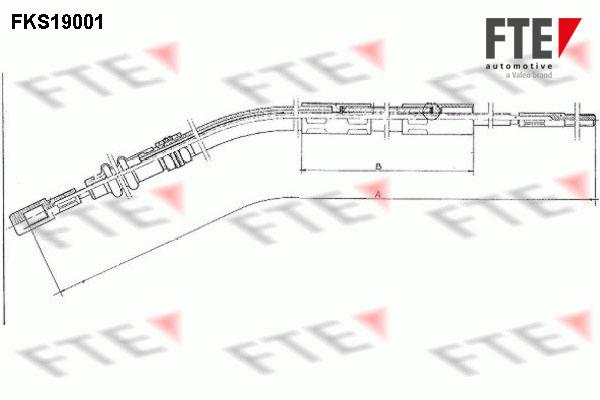 Cable d'embrayage FTE FKS19001 (X1)