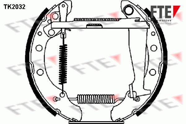 kit de frein arrière simple ou prémonté FTE TK2032 (X1)
