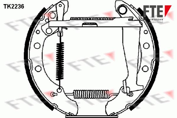 kit de frein arrière simple ou prémonté FTE TK2236 (X1)