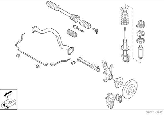 Silentblocs des roues HERTH+BUSS JAKOPARTS N00013-VA (X1)