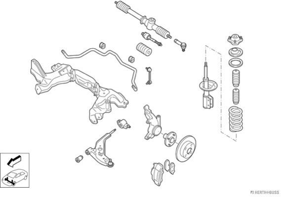 Silentblocs des roues HERTH+BUSS JAKOPARTS N00242-VA (X1)