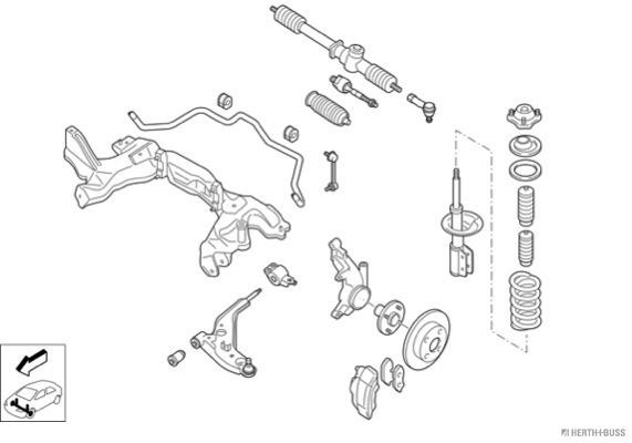 Silentblocs des roues HERTH+BUSS JAKOPARTS N00245-VA (X1)