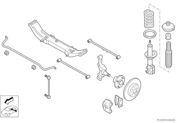 Silentblocs des roues HERTH+BUSS JAKOPARTS N00281-HA (X1)