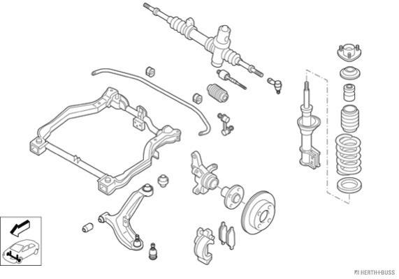 Silentblocs des roues HERTH+BUSS JAKOPARTS N00313-VA (X1)