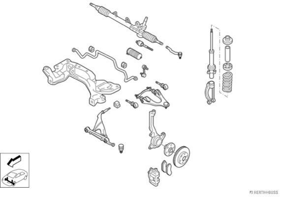 Silentblocs des roues HERTH+BUSS JAKOPARTS N00838-VA (X1)