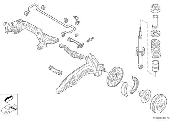 Silentblocs des roues HERTH+BUSS JAKOPARTS N00839-HA (X1)