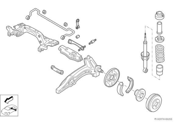 Silentblocs des roues HERTH+BUSS JAKOPARTS N00848-HA (X1)