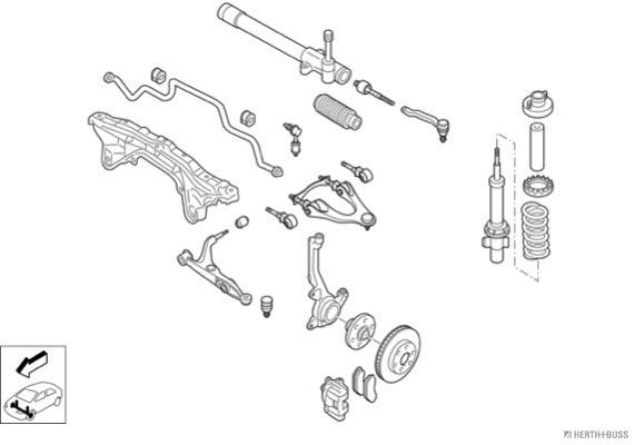 Silentblocs des roues HERTH+BUSS JAKOPARTS N00848-VA (X1)