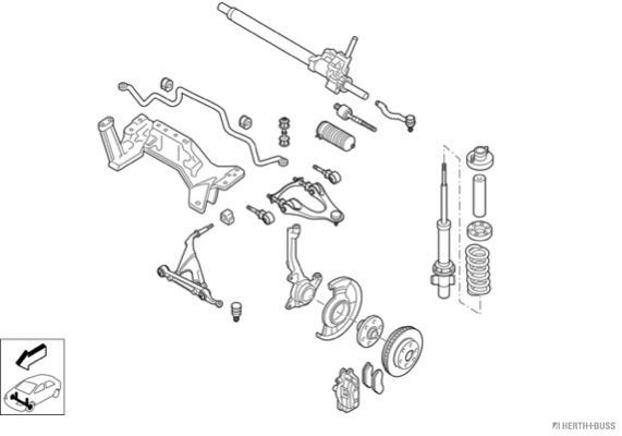 Silentblocs des roues HERTH+BUSS JAKOPARTS N00896-VA (X1)