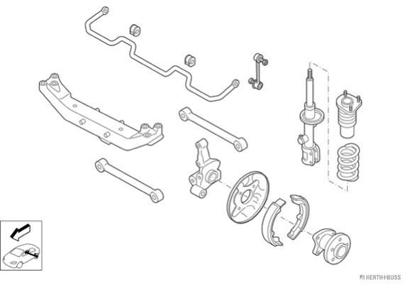 Silentblocs des roues HERTH+BUSS JAKOPARTS N00975-HA (X1)