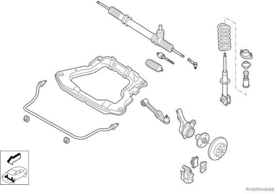 Silentblocs des roues HERTH+BUSS JAKOPARTS N01107-VA (X1)