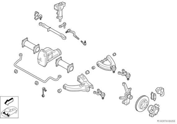 Silentblocs des roues HERTH+BUSS JAKOPARTS N01797-VA (X1)