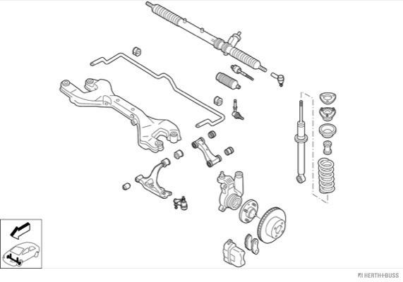Silentblocs des roues HERTH+BUSS JAKOPARTS N01956-VA (X1)