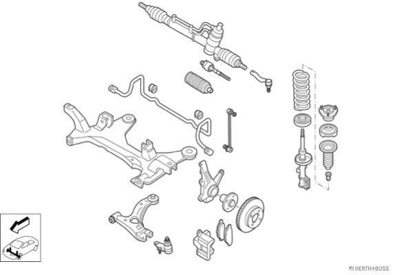 Silentblocs des roues HERTH+BUSS JAKOPARTS N01978-VA (X1)