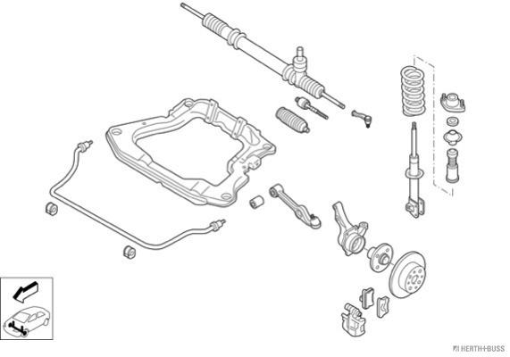 Silentblocs des roues HERTH+BUSS JAKOPARTS N02064-VA (X1)