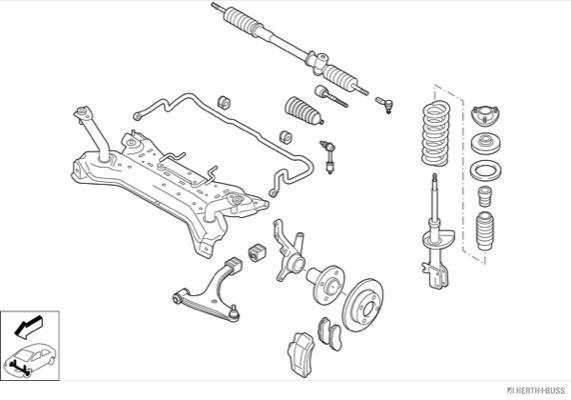 Silentblocs des roues HERTH+BUSS JAKOPARTS N02258-VA (X1)