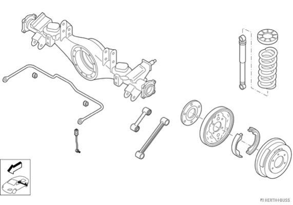 Silentblocs des roues HERTH+BUSS JAKOPARTS N02294-HA (X1)