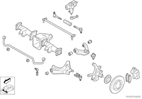 Silentblocs des roues HERTH+BUSS JAKOPARTS N02296-VA (X1)
