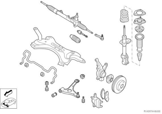 Silentblocs des roues HERTH+BUSS JAKOPARTS N02417-VA (X1)