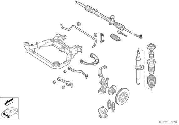 Silentblocs des roues HERTH+BUSS JAKOPARTS N02568-VA (X1)