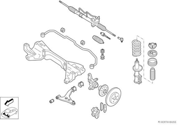 Silentblocs des roues HERTH+BUSS JAKOPARTS N02662-VA (X1)
