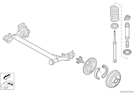 Silentblocs des roues HERTH+BUSS JAKOPARTS N02698-HA (X1)