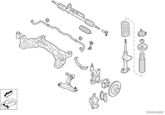 Silentblocs des roues HERTH+BUSS JAKOPARTS N02714-VA (X1)
