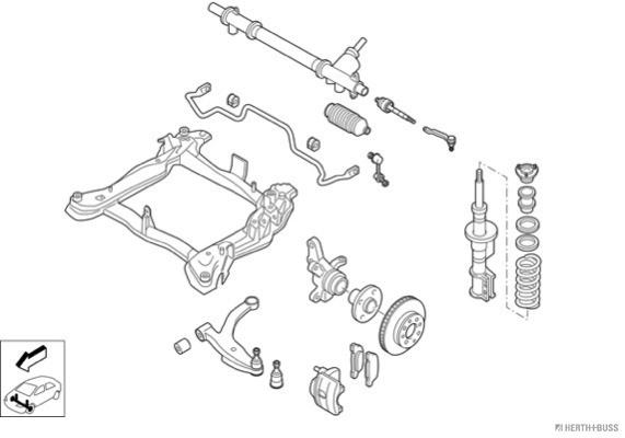 Silentblocs des roues HERTH+BUSS JAKOPARTS N02876-VA (X1)