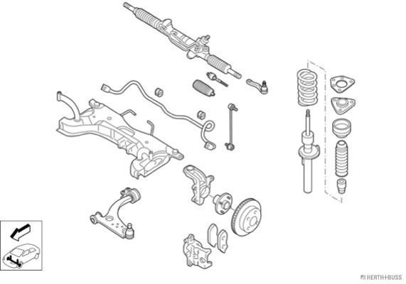 Silentblocs des roues HERTH+BUSS JAKOPARTS N02879-VA (X1)