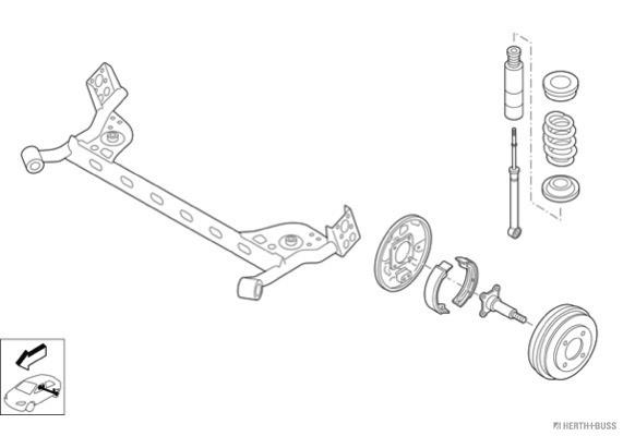 Silentblocs des roues HERTH+BUSS JAKOPARTS N03061-HA (X1)
