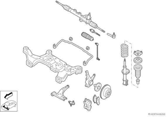 Silentblocs des roues HERTH+BUSS JAKOPARTS N03082-VA (X1)