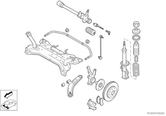 Silentblocs des roues HERTH+BUSS JAKOPARTS N03118-VA (X1)