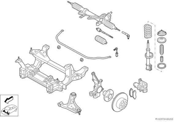 Silentblocs des roues HERTH+BUSS JAKOPARTS N03171-VA (X1)