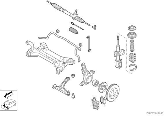Silentblocs des roues HERTH+BUSS JAKOPARTS N03260-VA (X1)