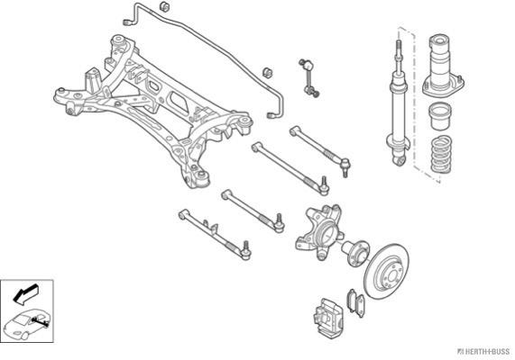 Silentblocs des roues HERTH+BUSS JAKOPARTS N03305-HA (X1)