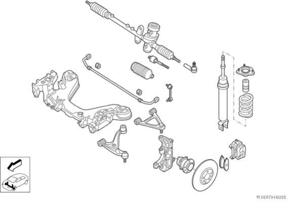 Silentblocs des roues HERTH+BUSS JAKOPARTS N03305-VA (X1)