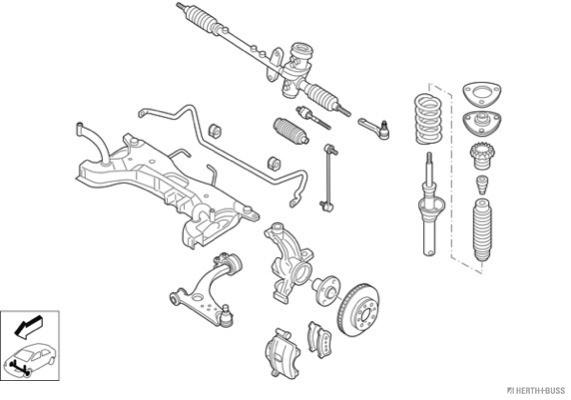 Silentblocs des roues HERTH+BUSS JAKOPARTS N03317-VA (X1)