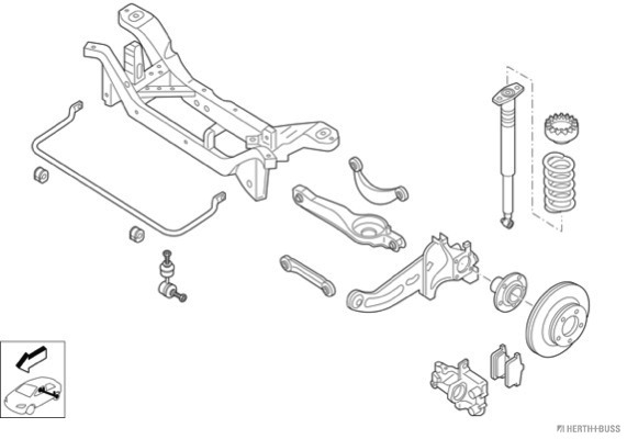 Silentblocs des roues HERTH+BUSS JAKOPARTS N03318-HA (X1)