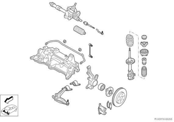 Silentblocs des roues HERTH+BUSS JAKOPARTS N03557-VA (X1)