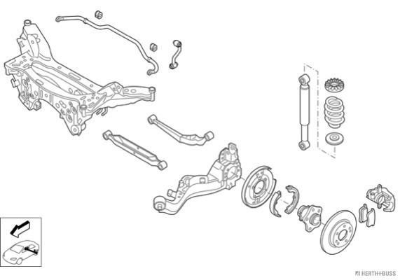 Silentblocs des roues HERTH+BUSS JAKOPARTS N03723-HA (X1)