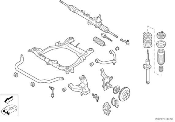Silentblocs des roues HERTH+BUSS JAKOPARTS N03793-VA (X1)