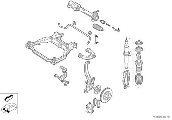 Silentblocs des roues HERTH+BUSS JAKOPARTS N04364-VA (X1)