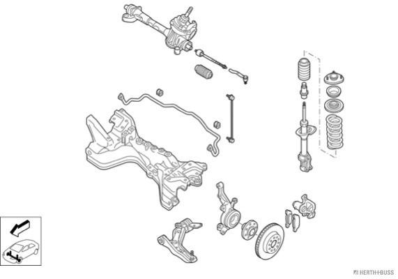 Silentblocs des roues HERTH+BUSS JAKOPARTS N04380-VA (X1)