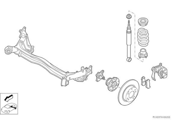 Silentblocs des roues HERTH+BUSS JAKOPARTS N04382-HA (X1)