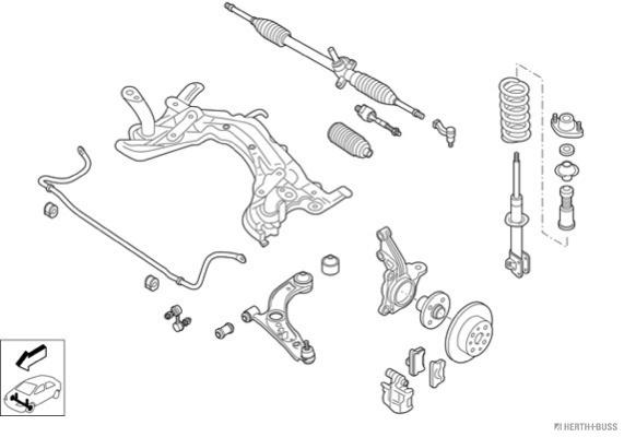 Silentblocs des roues HERTH+BUSS JAKOPARTS N04385-VA (X1)