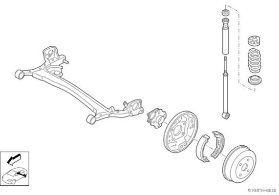 Silentblocs des roues HERTH+BUSS JAKOPARTS N04609-HA (X1)