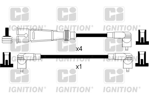 Cable d'allumage QUINTON HAZELL XC1095 (X1)